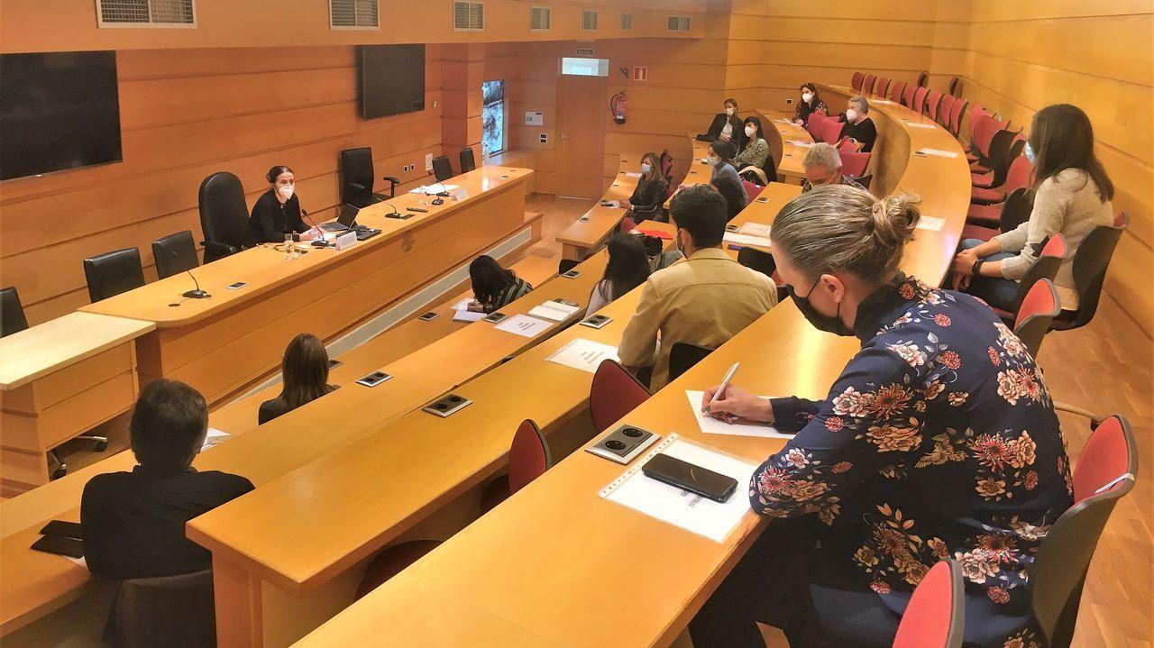 Reunión UDC Saudable y entidades sociales.Las sesiones se realizan de manera virtual o bien presencialmente en la Unidad de Intervención Familliar, en la imagen