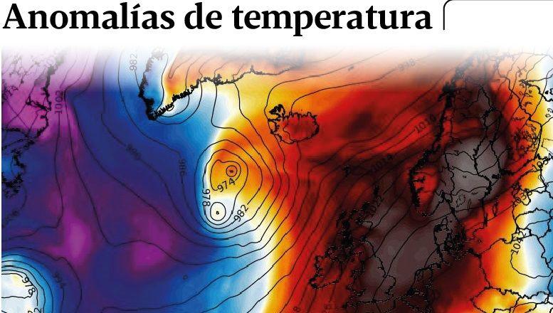Anomalías de temperatura en Europa