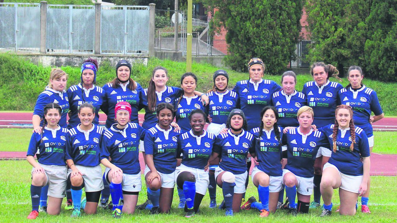 El equipo femenino del Oviedo Rugby