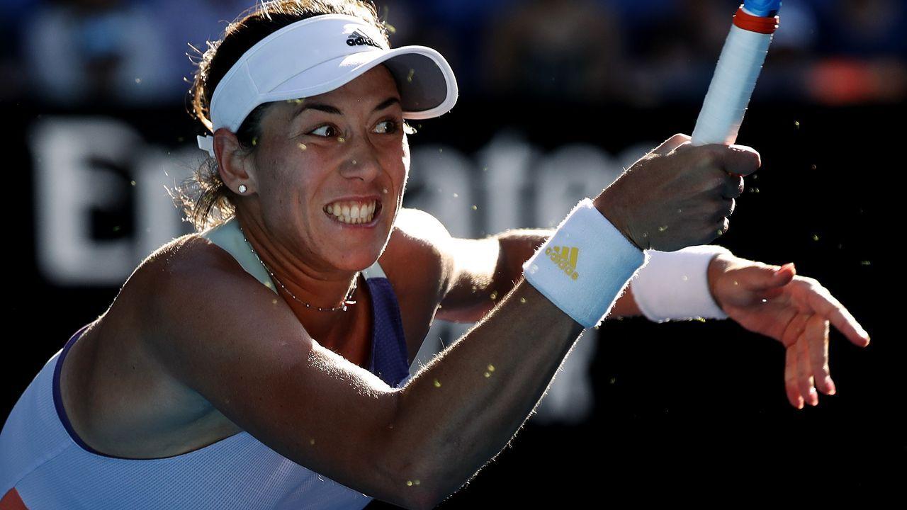 Resumimos la carrera de Sharapova en fotografías.Garbiñe Muguruza, durante el partido contra Simona Halep