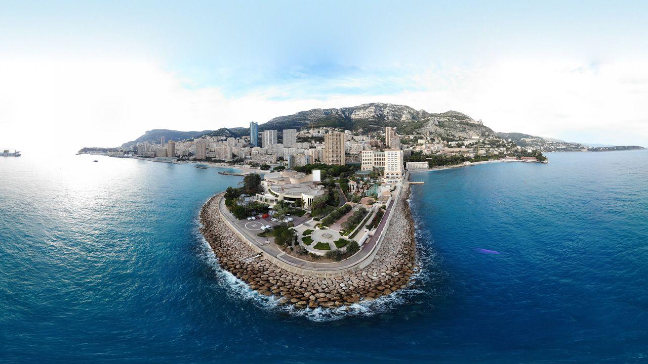 Mónaco en una imagen tomada por el dron Mavic Air