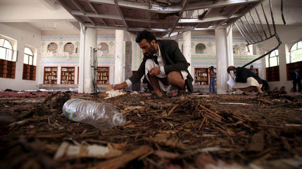 Túnez publica las imágenes de los terroristas en el Museo Bardo.Imagen del ataque a la mezquita de Yemen
