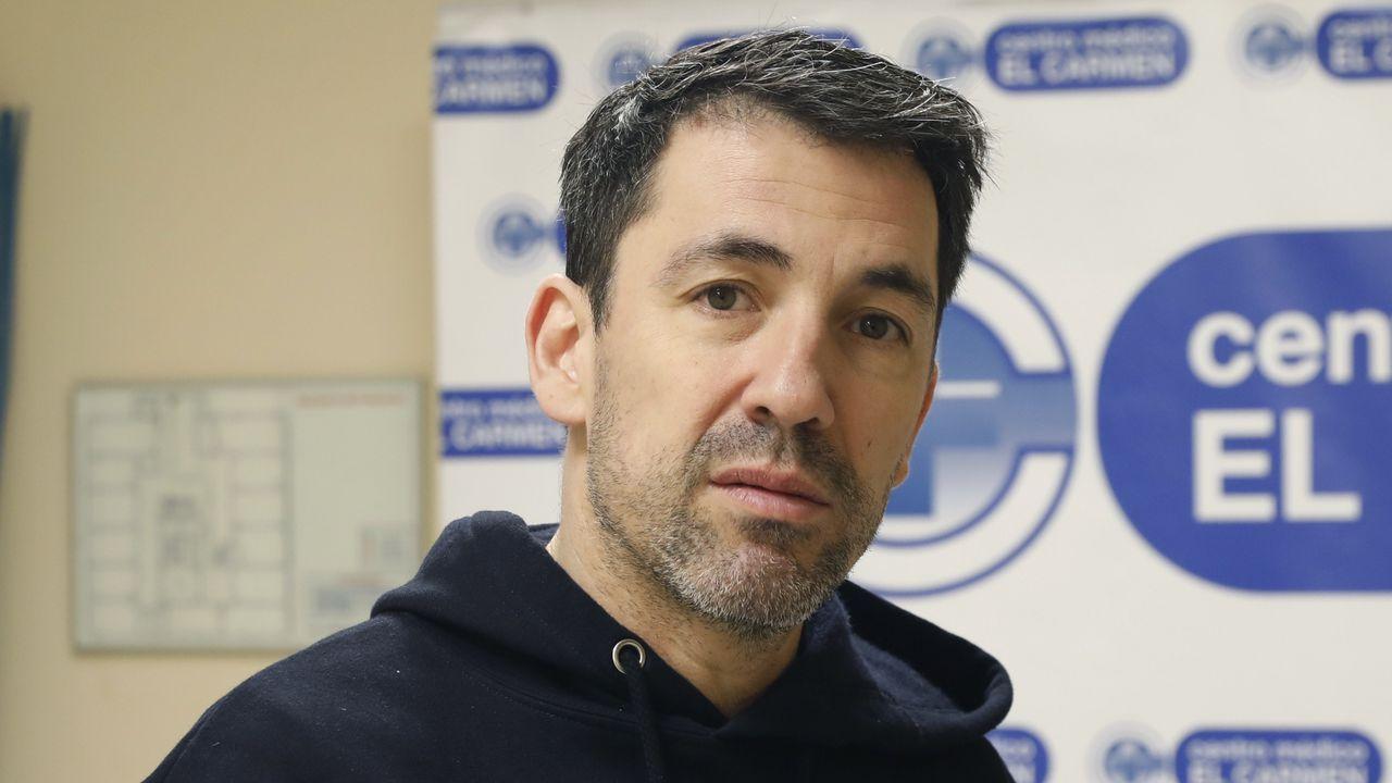 El entrenador del COB, Gonzalo Garcia de Vitoria, en la previa del partido contra Basquet Coruña