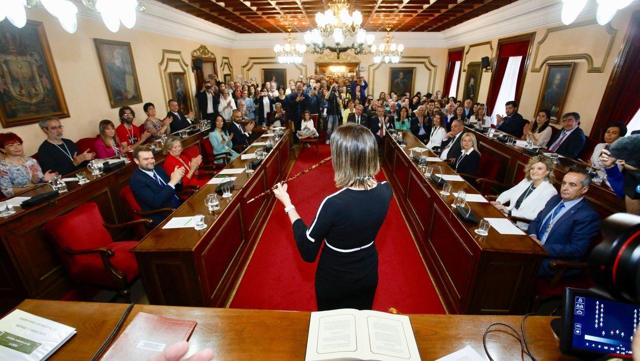 La ofrenda del Antiguo Reino, marcada por la pandemia.Méndez tomou posesión do cargo de alcaldesa o 15 de xuño de 2019