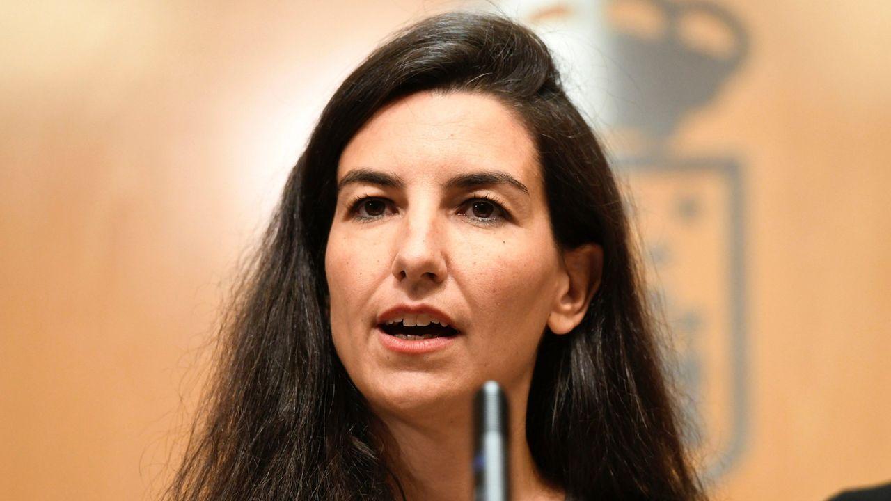 maria pita.La candidata socialista a presidir la Comunidad Foral de Navarra, María Chivite, durante una de sus intervenciones en la primera jornada de la sesión de investidura
