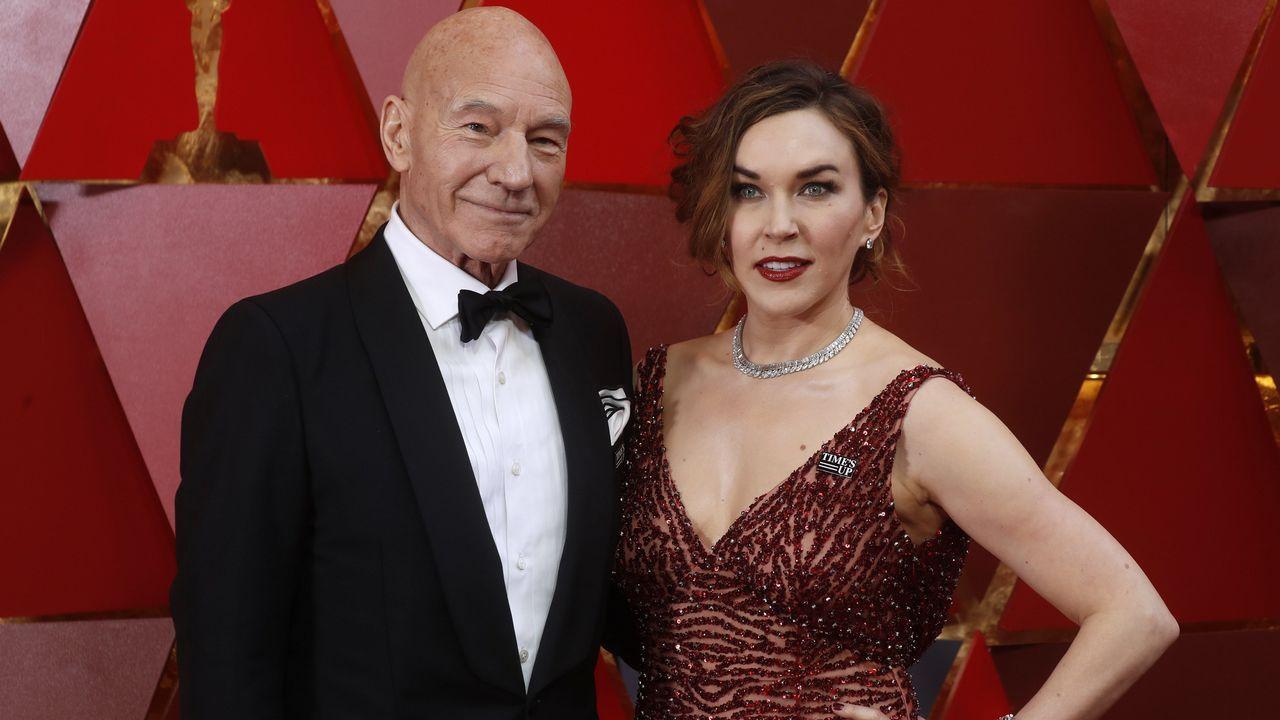 Patrick Stewart y su mujer Sunny Ozell
