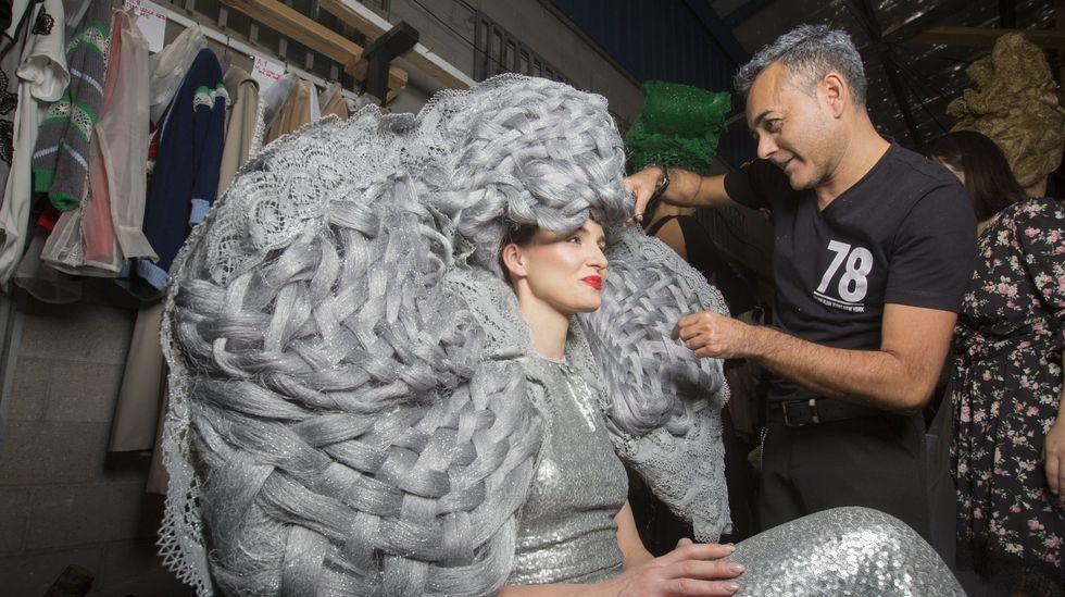 Bardullas, en su participación en la Mostra do Encaixe de Camariñas