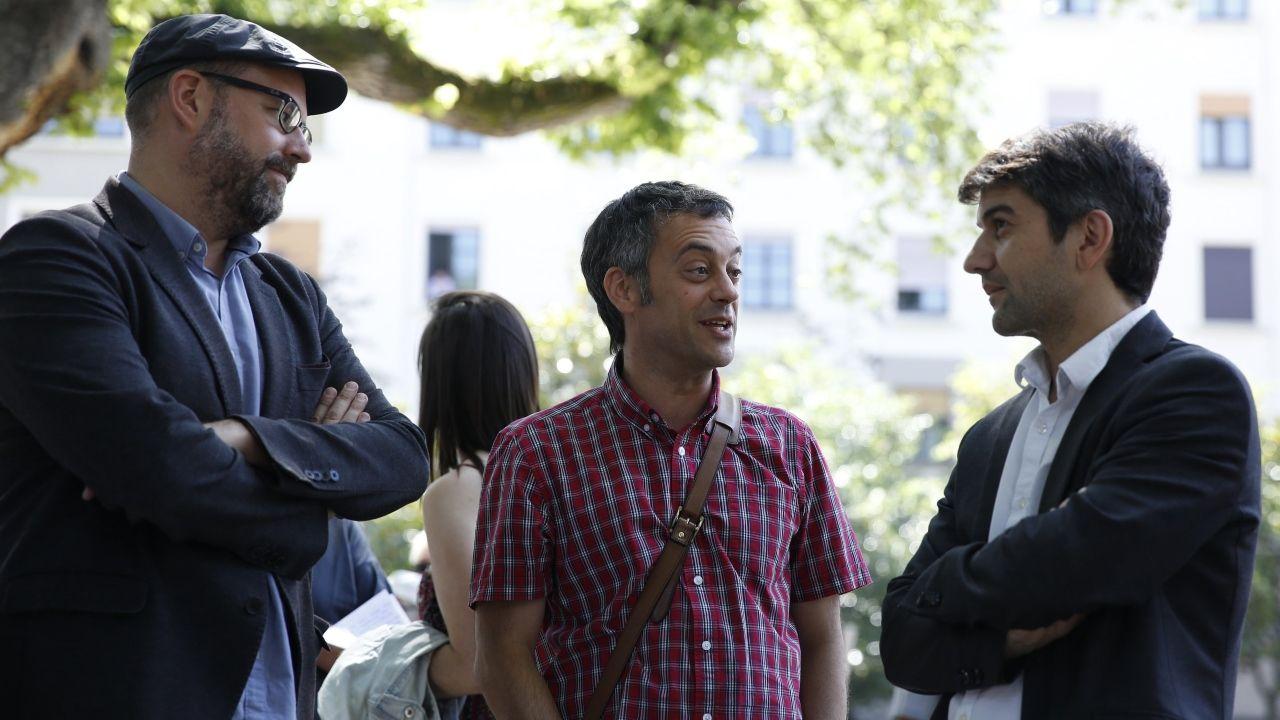 Cinco de los alcaldes de las ciudades gallegas reunidos en los Premios Fernández Latorre