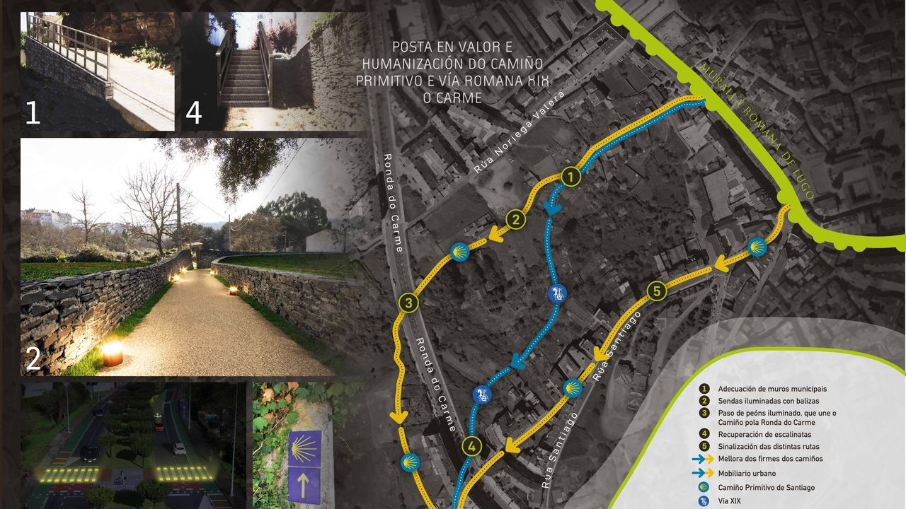 Proyecto de rehabilitación del Camiño Primitivo y la Vía Romana XIX en la zona del Barrio do Carmen