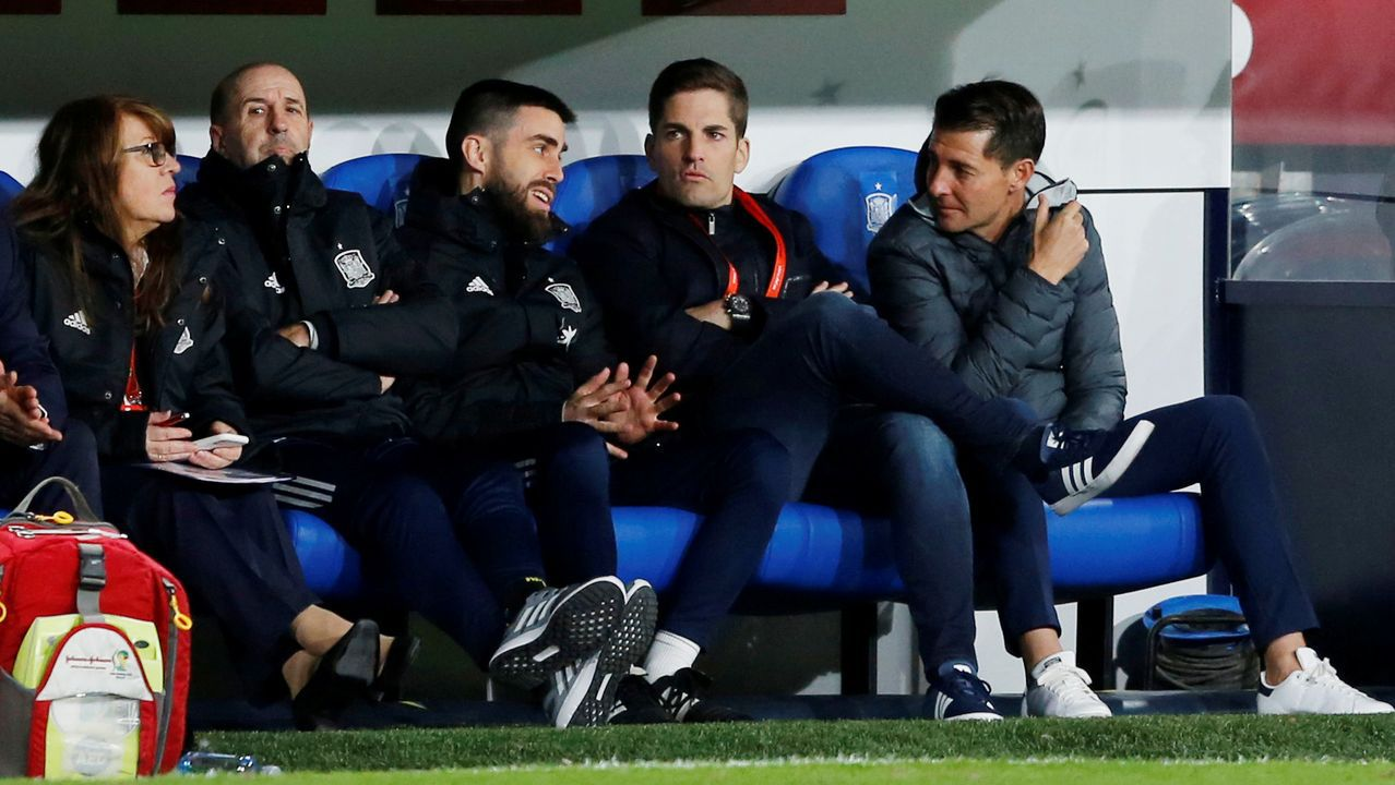 Xavi, durante su despedida como jugador del Barça