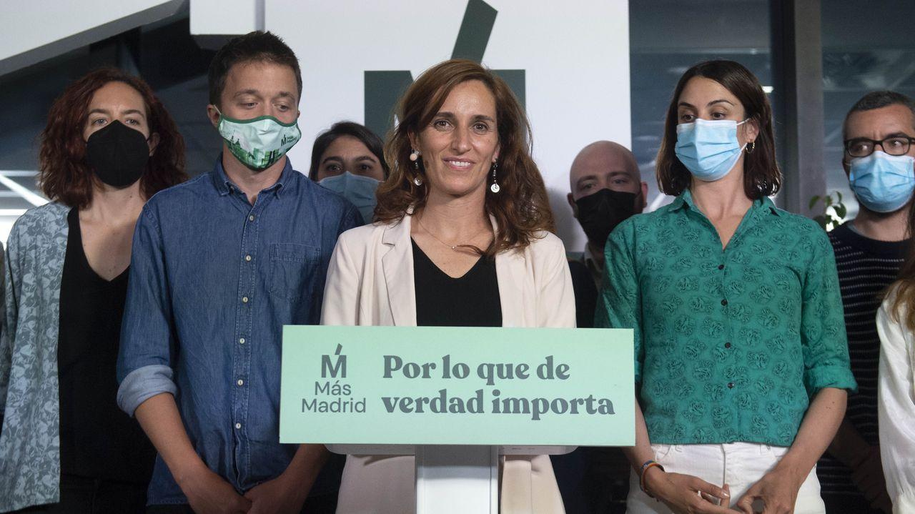 Mónica García: «Somos la fuerza que hemos empujado el bloque progresista y la alternativa al cambio».El presidente Joe Biden y la vicepresidenta Kamala Harris (detrás), en una imagen de archivo