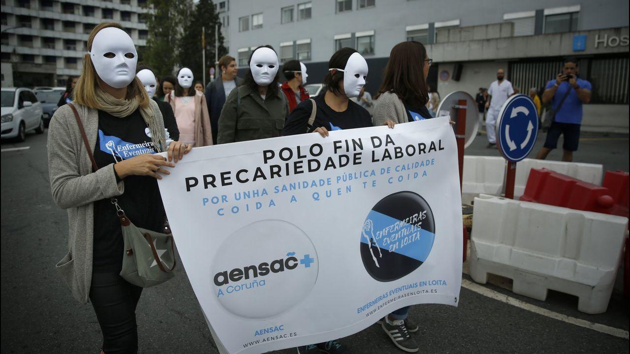 Foto de archivo de una concentración de protesta de enfemeros eventuales en el Chuac