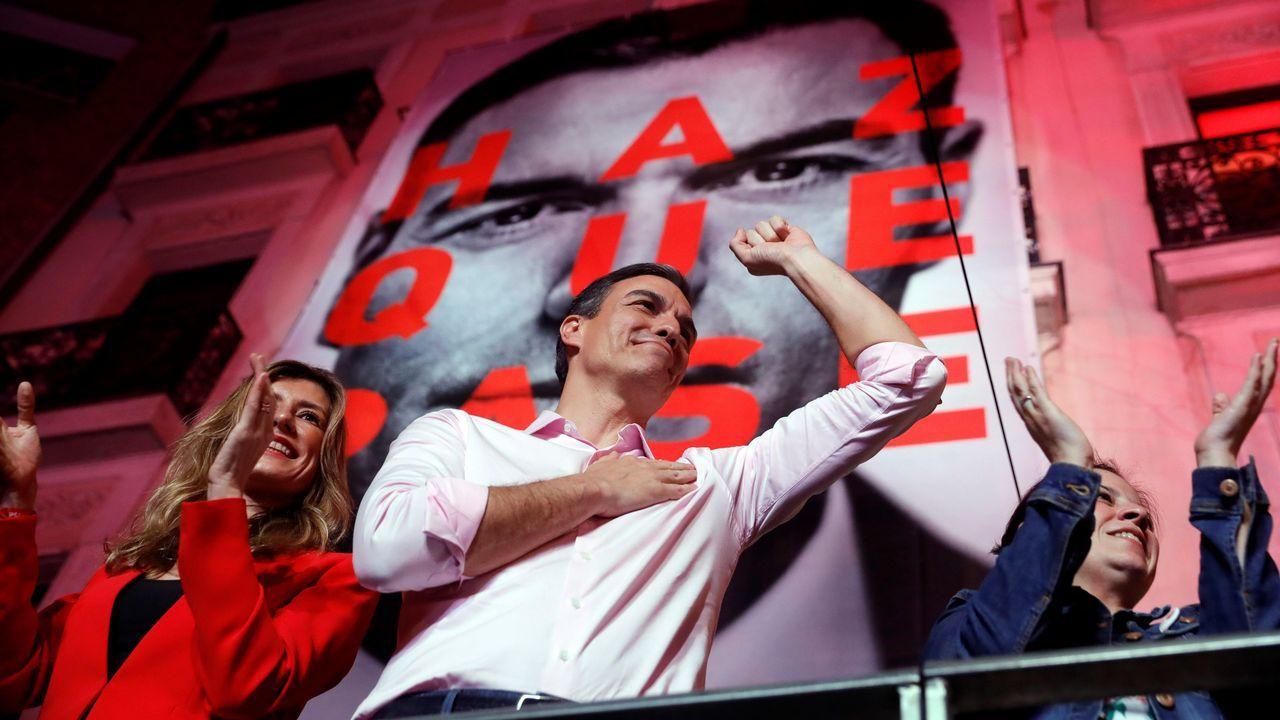 Pedro Sánchez, en un acto de la campaña electoral en Madrid