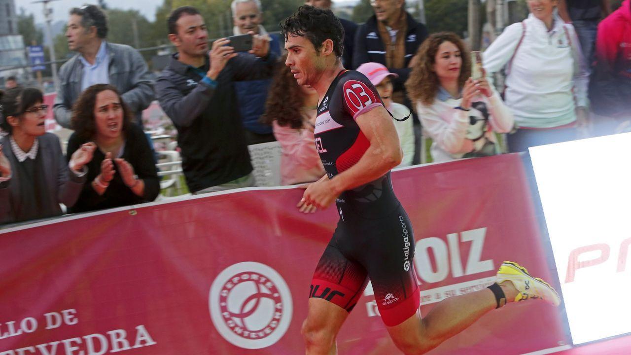 Gómez Noya, en una foto de archivo durante una prueba en Pontevedra.