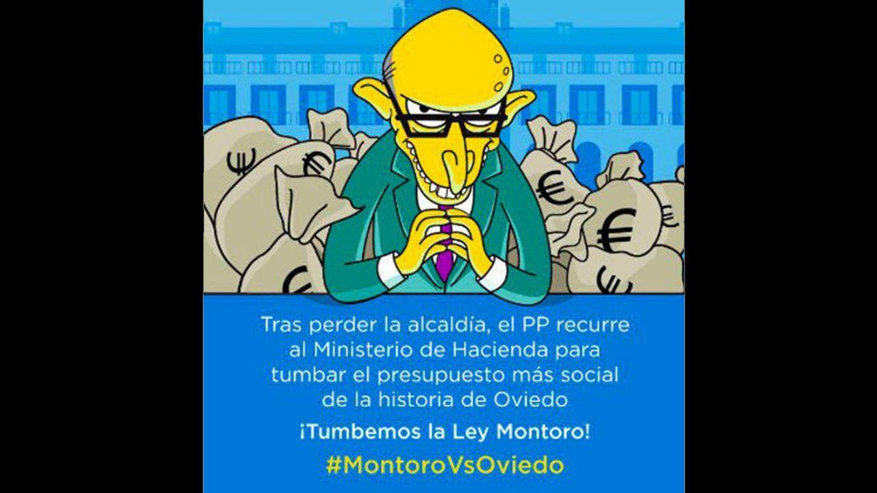 Campaña de los ayuntamientos del cambio en defensa de Oviedo y contra Montoro