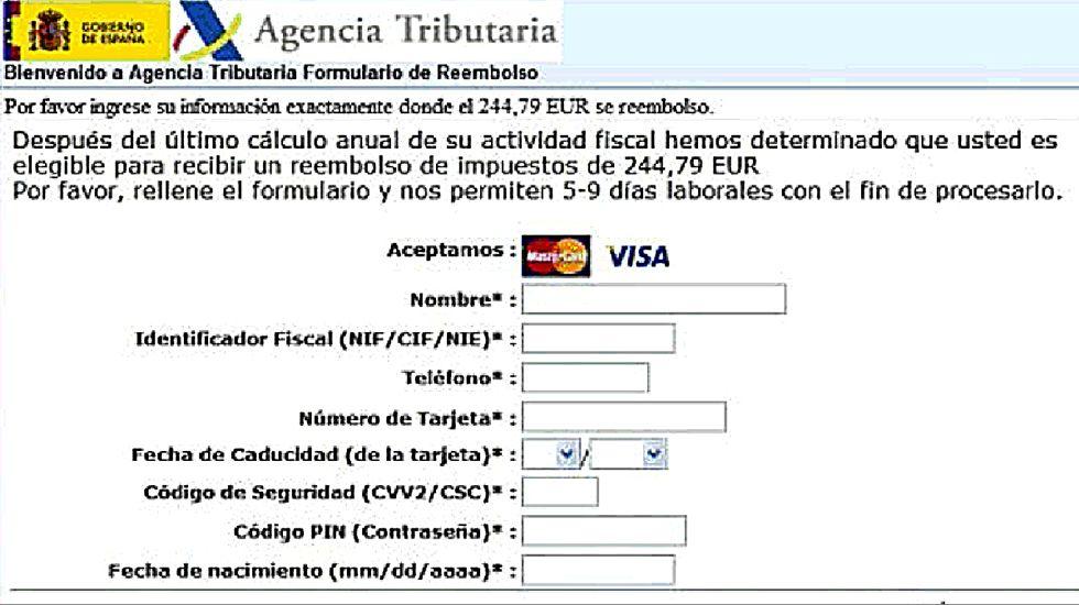Un correo de una falsa Agencia Tributaria está circulando estos días. Incluye el virus que encripta archivos.