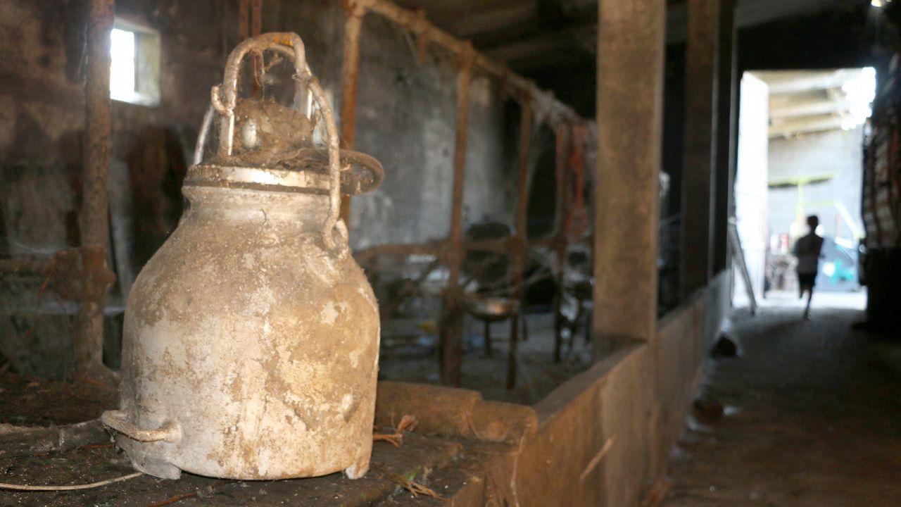 Desde lo alto del mirador de Ézaro puede observarse aún ahora la huella del fuego que arrasó O Pindo en el 2013