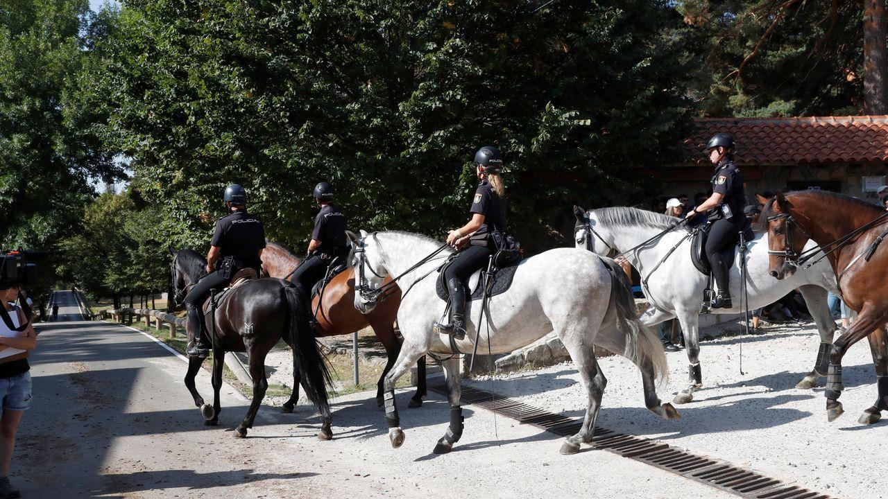 Imagen de la Policía Nacional a caballo