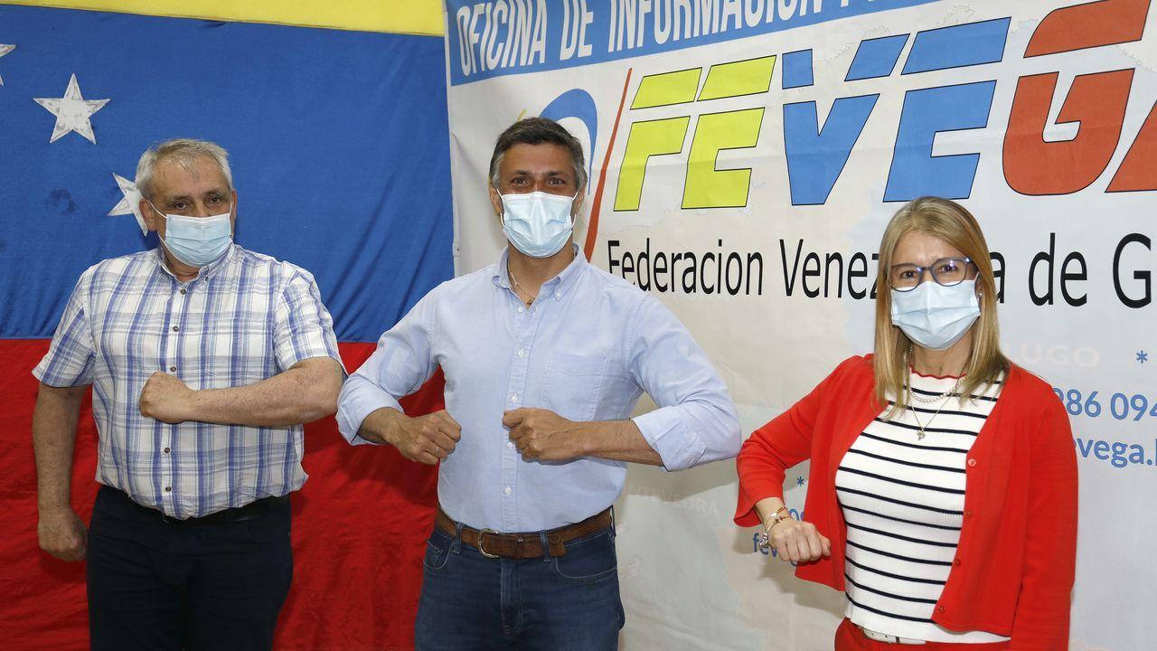 Cordal se defiende de las acusaciones del PP:?Dá igual que se apeliden López,Sánchez ou Iglesias?..Leopoldo López, en su visita a la comunidad venezolana de Celanova
