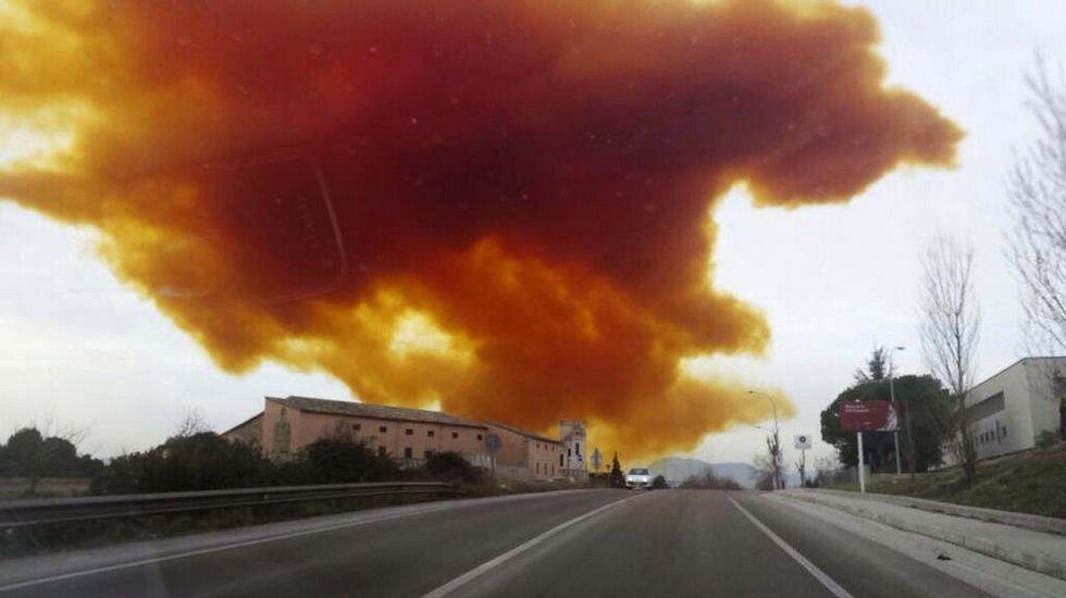 «Nube tóxica» en la provincia de Barcelona por un escape de gas en una empresa química de Igualada