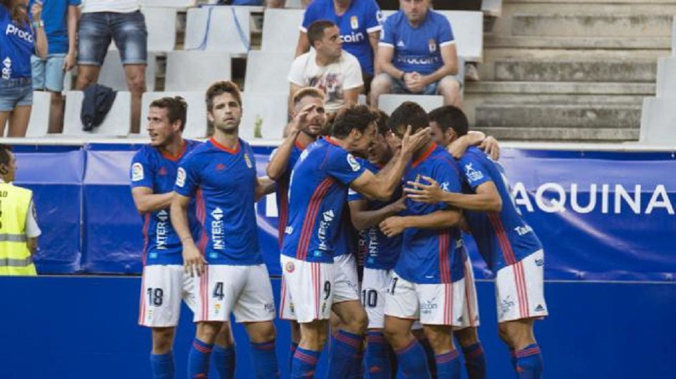 Alineación del Real Oviedo ante el Reus