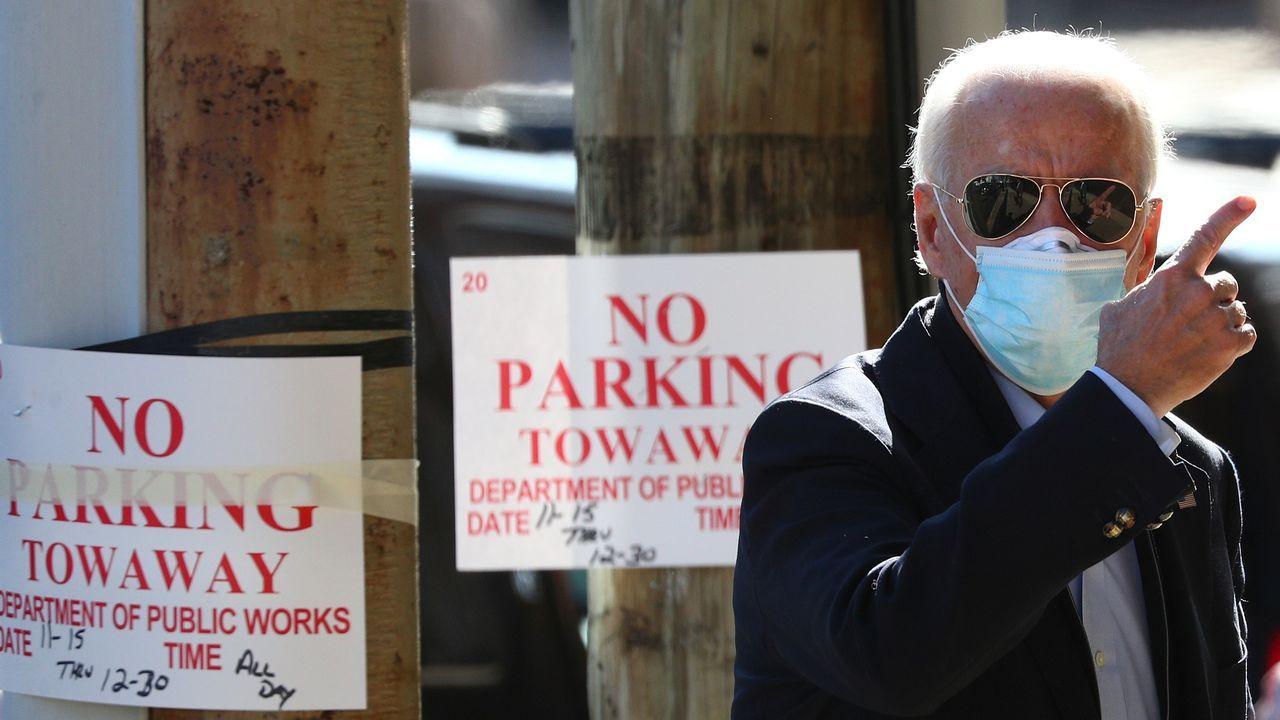 Joe Biden, este miércoles, en Wilmington (Delaware)
