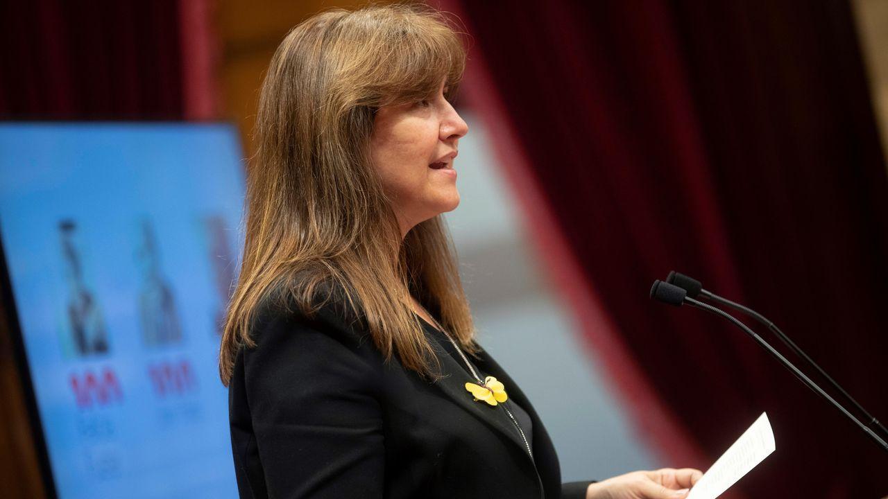 La presidenta del Parlamento catalán, Laura Borràs