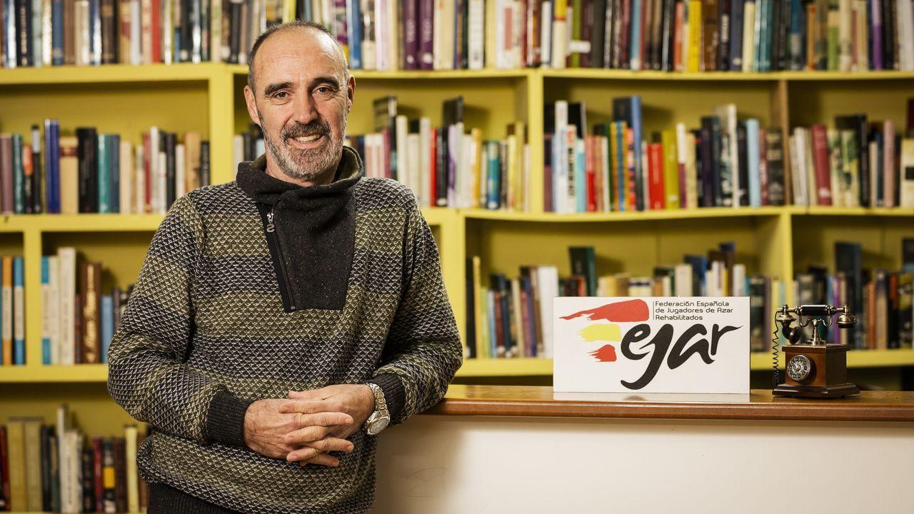Juan Lamas, director técnico de Fejar y director terapéutico de Agaja.Este bar ya repartió un segundo premio de la lotería de Navidad en el año 2013