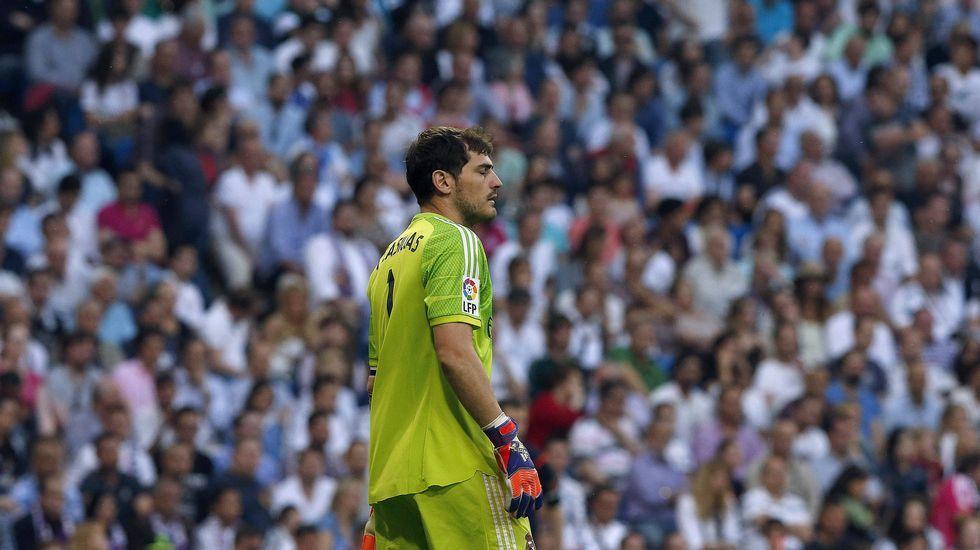 La reacción de Casillas a los pitos del Bernabéu