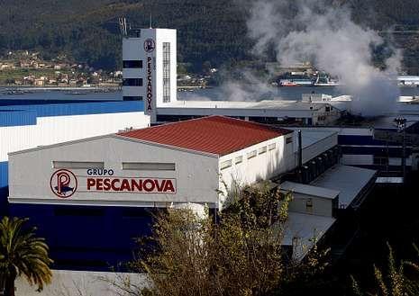 Instalaciones de Pescanova, en Chapela (Redondela).