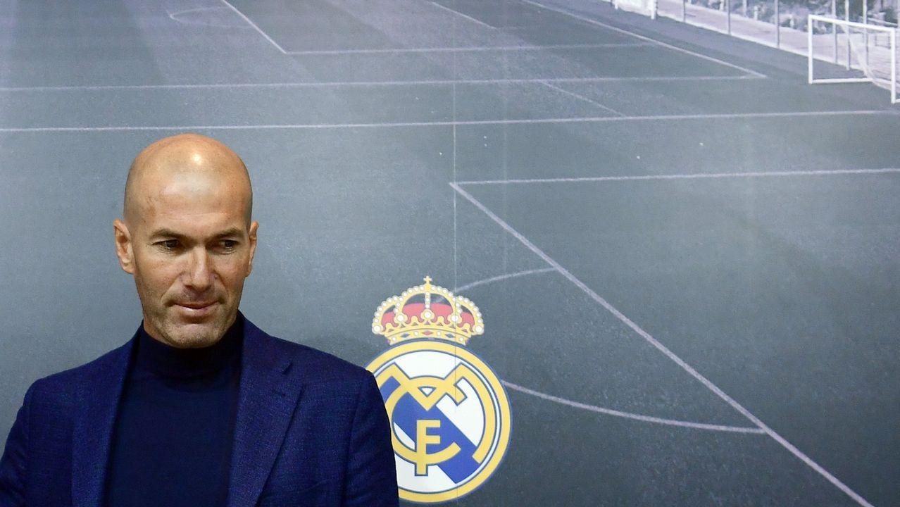 Zidane: «Estoy muy feliz de volver a casa».Alberto Suárez Laso