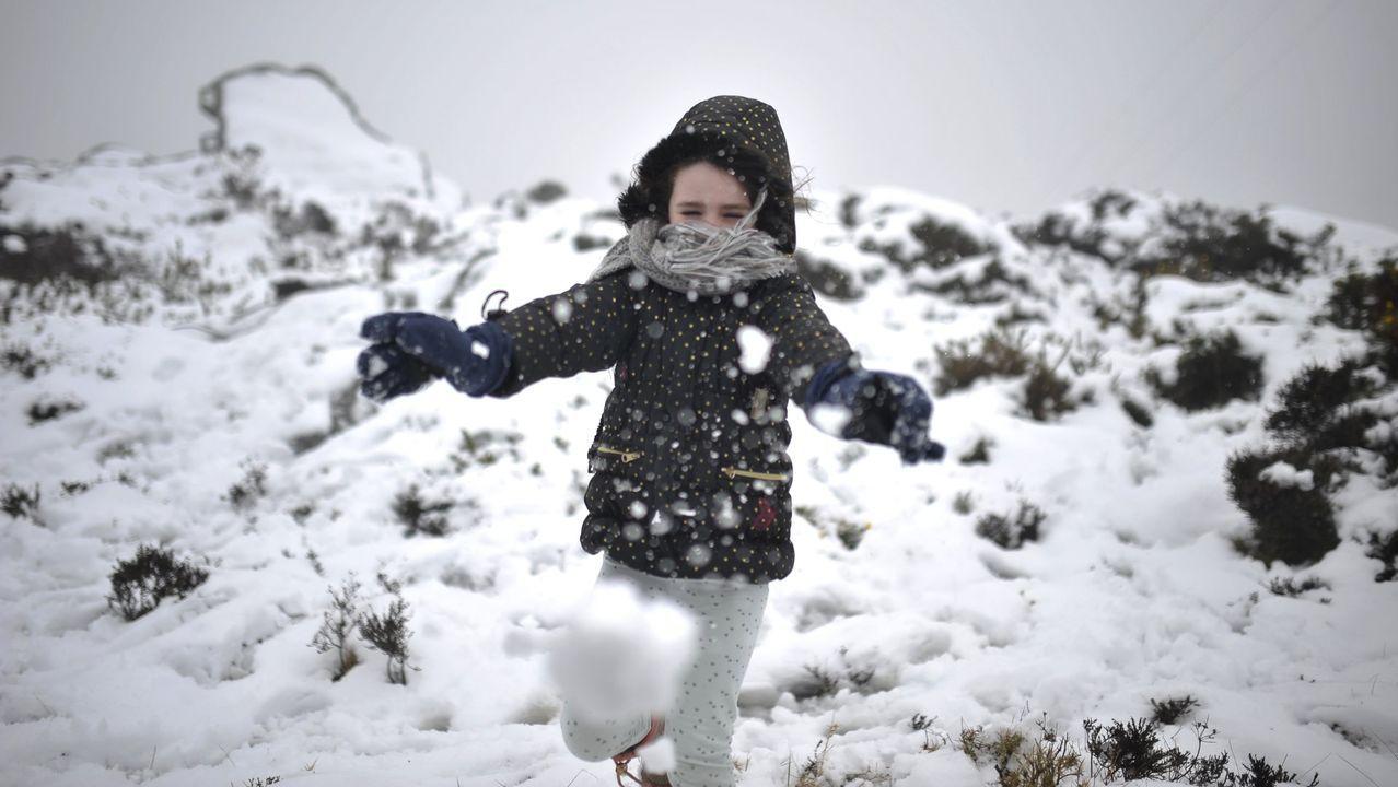 Imagen de archivo de una nevada en As Pontes