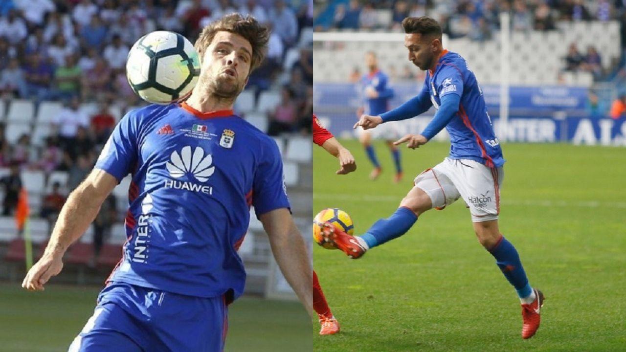 Gol Rocha Real Oviedo Sevilla Atletico.Héctor Verdés y Fran Varela