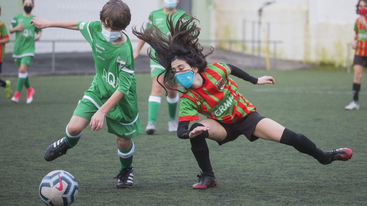 El álbum de fotos del Laracha-Victoria CF.Imagen del encuentro del pasado 7 de marzo