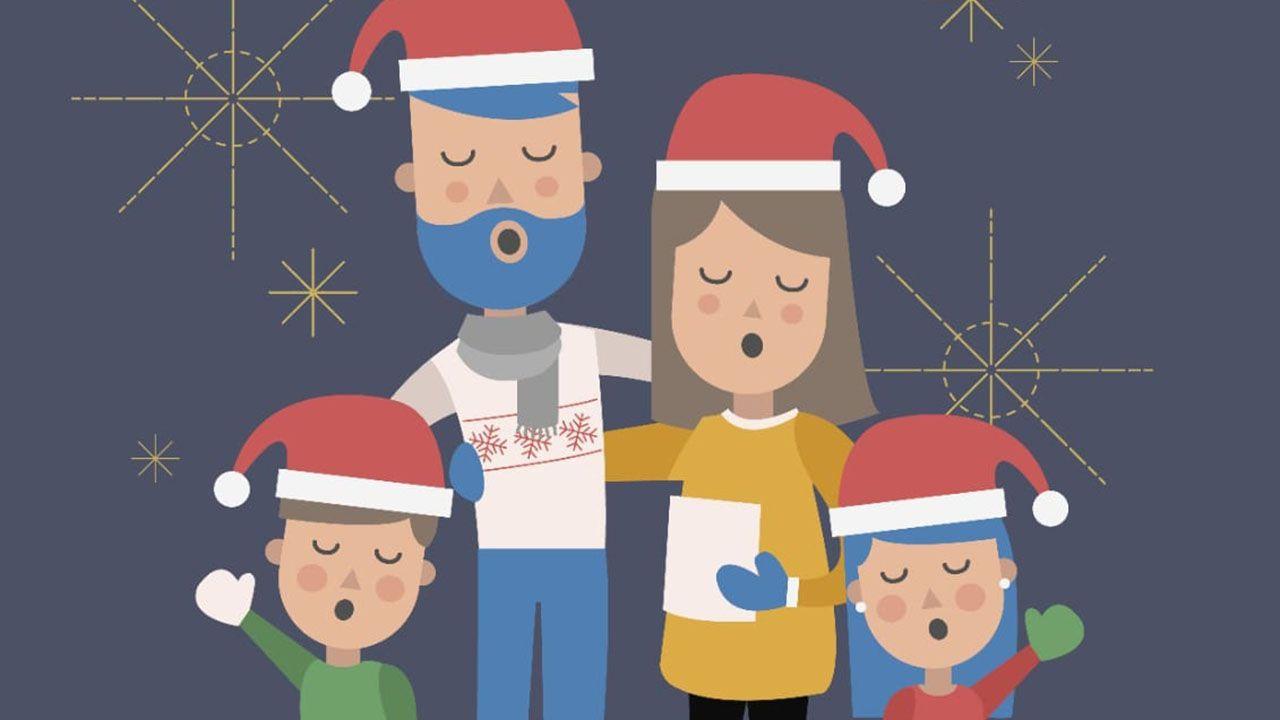 Cartel pasacalles navideño Ciudad Naranco
