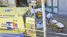 En el hospital Montecelo, en la imagen la entrada de urgencias, hay 11pacientes de covid en planta y 5 en la uci