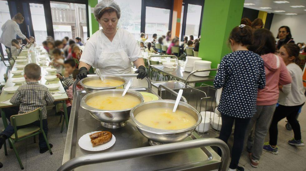 Comedor de un colegio en Vilagarcía