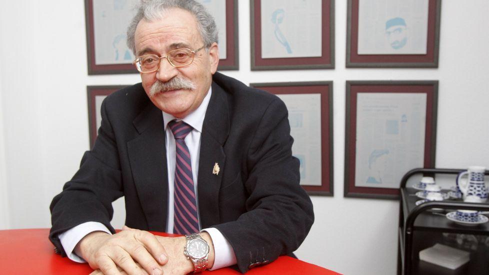 José Mouriño, autor del libro que se presenta en la bodega Rectoral de Amandi