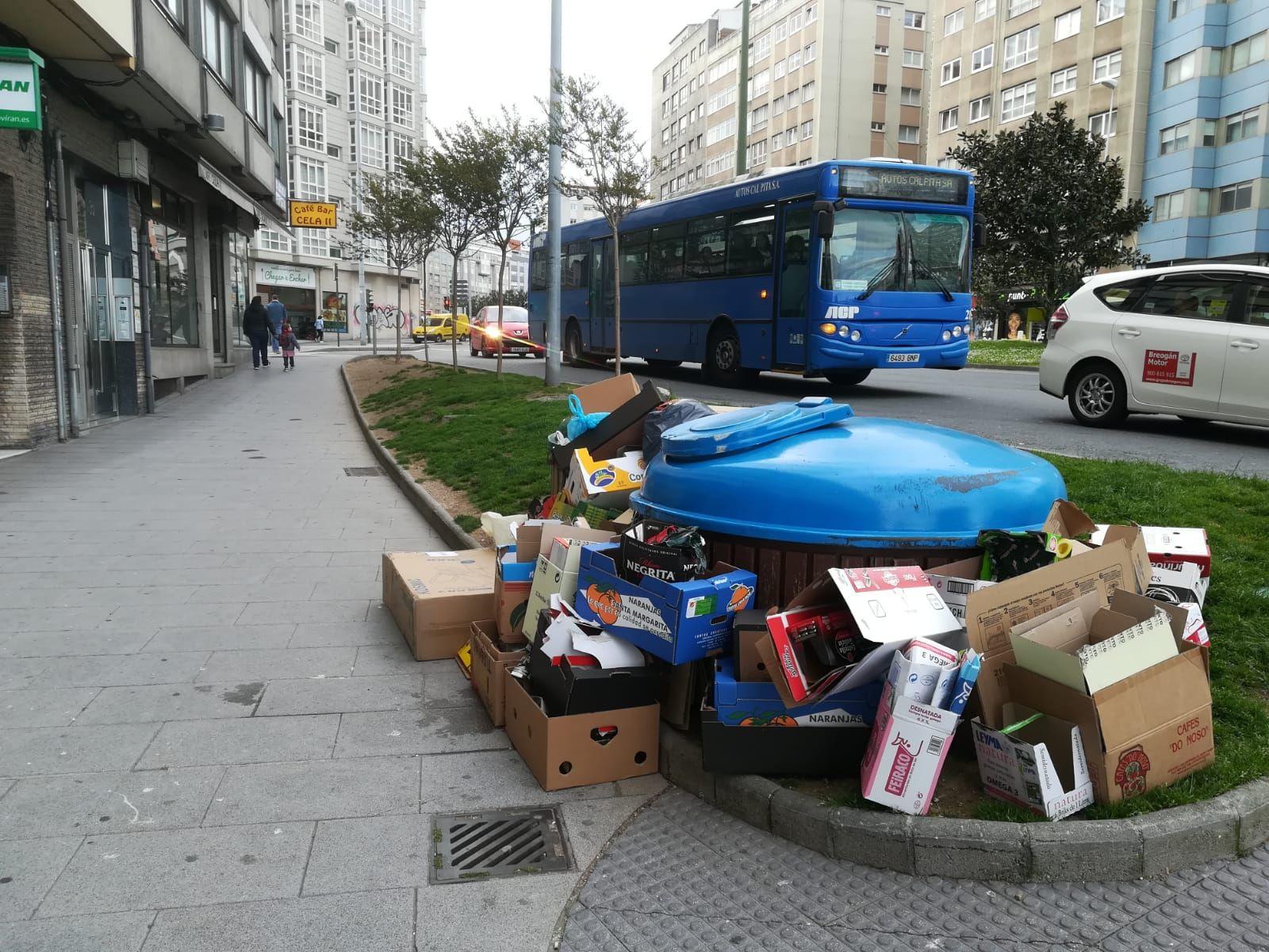 Cuarto día de la basura sin recoger
