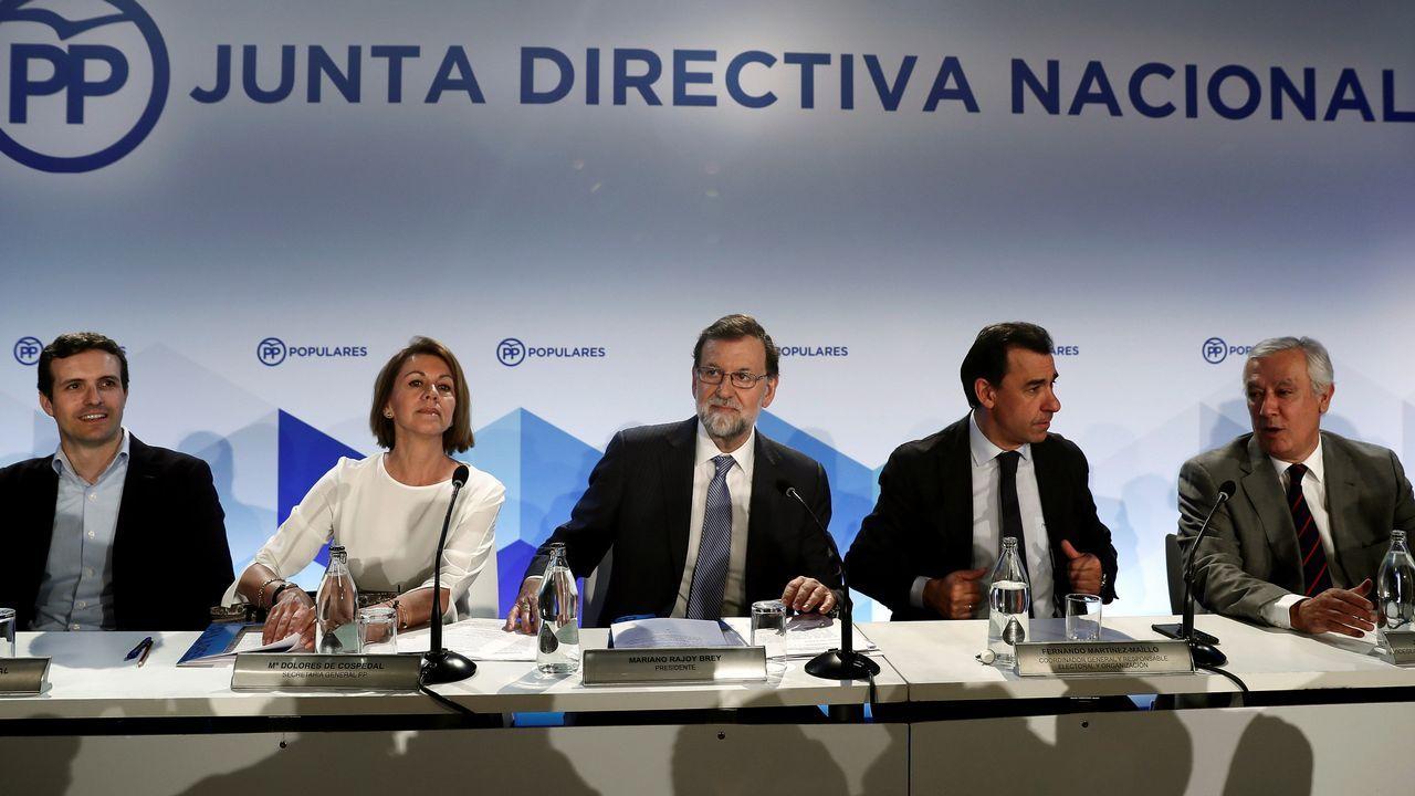 Sáenz de Santamaría: «Sé lo que es estar en el Gobierno y también en la oposición».Congreso Nacional del PP, en 2017