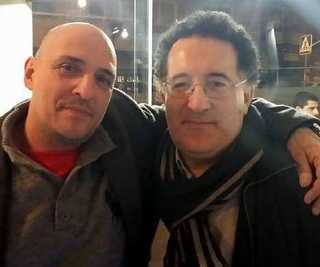 Armando Ojea, de Democracia Ourensana, y el juez Antonio Piña, en una foto que también fue extraída del perfil de Facebook