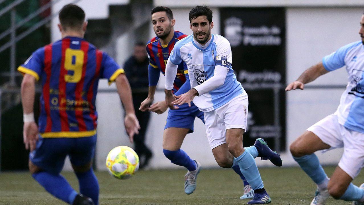 Imagen del Bergantiños-Deportivo disputado en pretemporada