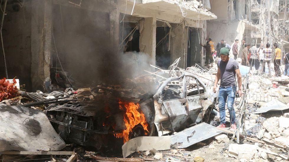 Un bombardeo contra un hospital en Alepo causa decenas de víctimas