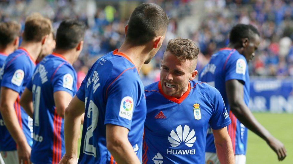Aaron Rocha Real Oviedo Carlos Tartiere Horizontal.Anquela durante un encuentro de esta temporada