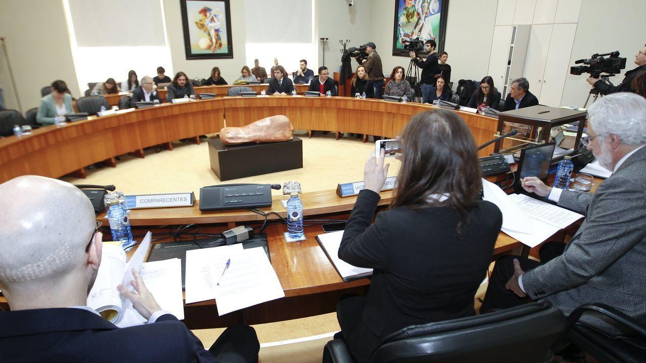 Segunda sesión constitutiva de la comisión de investigación sobre las cajas, en enero del 2017 .Caballero este jueves en un congreso de UGT