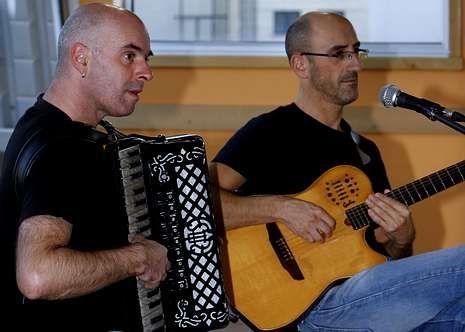 Díaz y Fernández, hace solo unos días en Carballo.