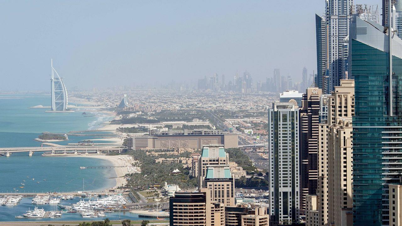 Así se vive la pandemia de una punta a otra del planeta.Vista de Dubai