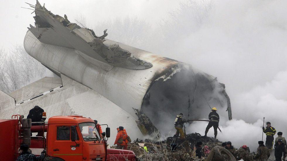 Accidente aéreo en Kirguizistán.MOMENTO DE LA SALIDA DE ESTE MIÉRCOLES