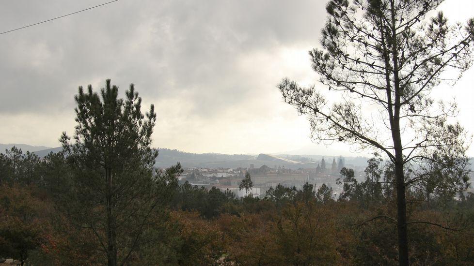 Vistas de Santiago desde la Granxa do Xesto (Pedroso)