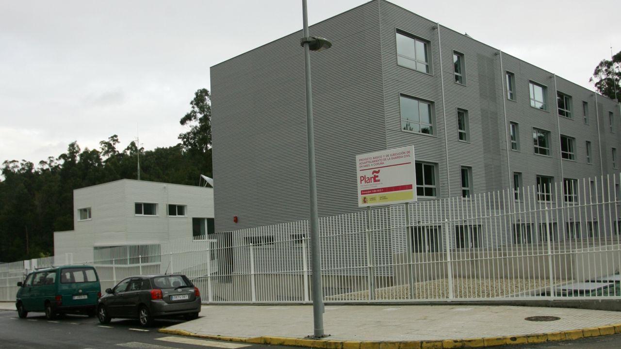 Cuartel de la guardia civil de Milladoiro (Ames), en donde se entregó